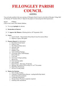 thumbnail of Agenda October 2018